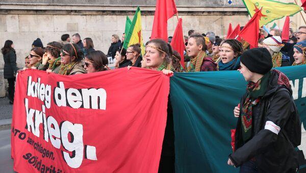 Акция протеста в Мюнхене. - Sputnik Латвия