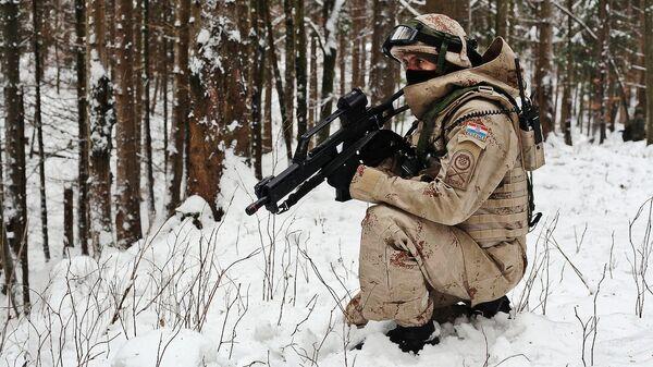 Хорватский военнослужащий, архивное фото - Sputnik Латвия