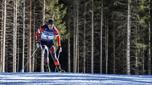 Байба Бендика на чемпионате мира по биатлону в Антхольце - Sputnik Латвия