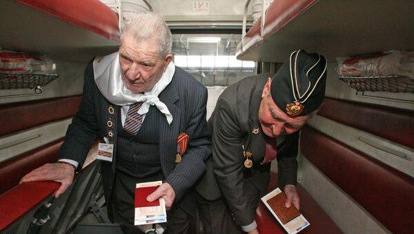 Поезд памяти с ветеранами отправился из Калининграда - Sputnik Латвия