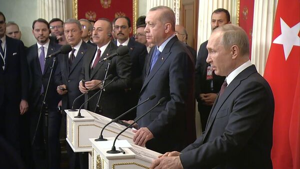 Прекращение огня и коридор безопасности: о чем договорились Путин и Эрдоган по Сирии - Sputnik Латвия