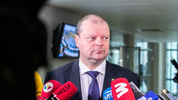 Премьер-министр Литовской Республики Саулюс Сквернялис - Sputnik Латвия