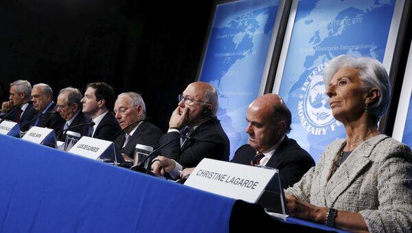 Члены ОЭСР на пресс-конференции - Sputnik Латвия