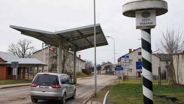 Латвийско-эстонская граница в Валке-Валге - Sputnik Latvija