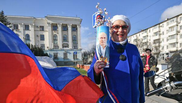 Krimas atkalapvienošanās ar Krieviju 6. gadadienas svinības Simferopolē - Sputnik Latvija
