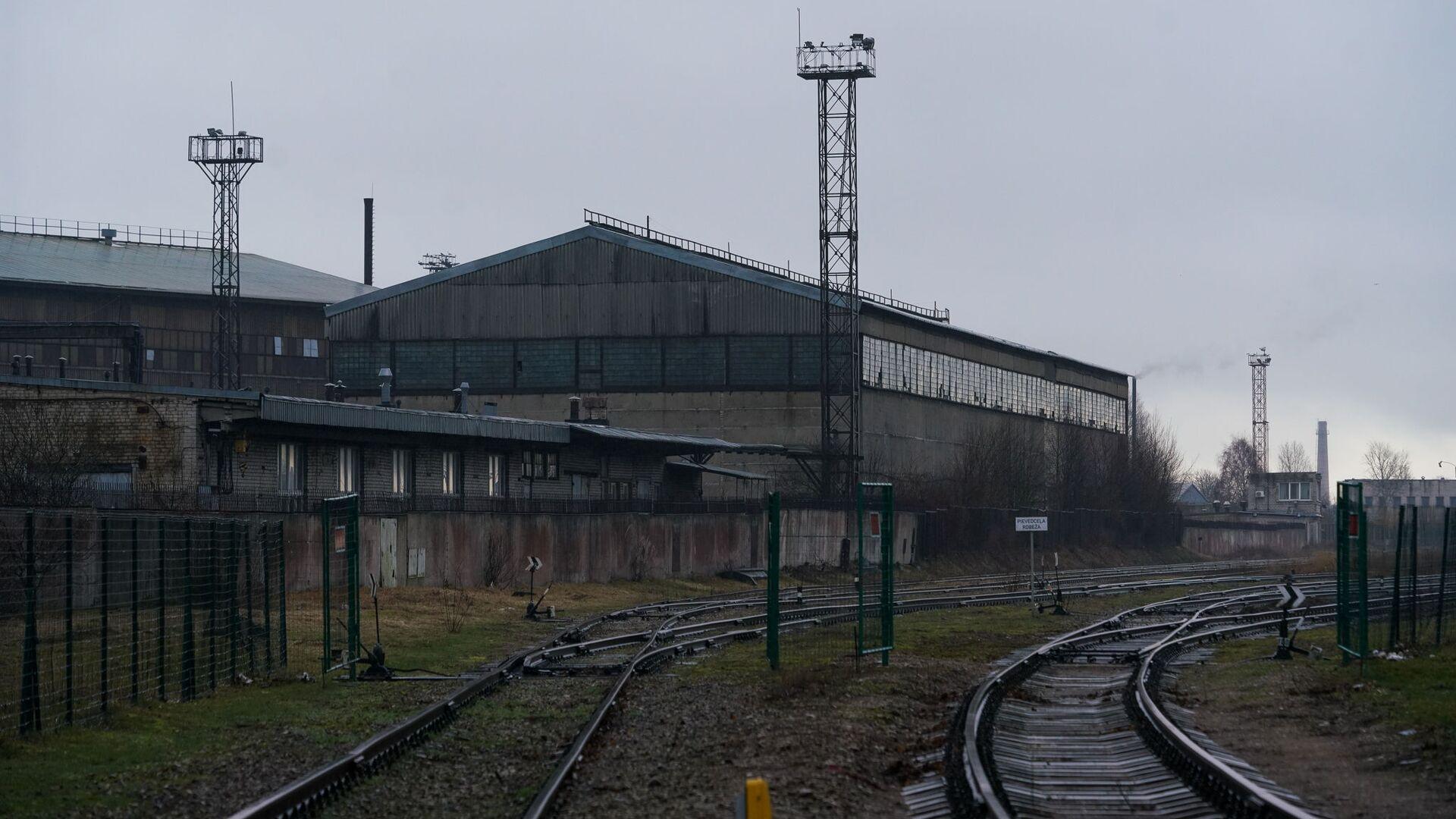 Железная дорога и склад в Лиепае - Sputnik Latvija, 1920, 25.08.2021
