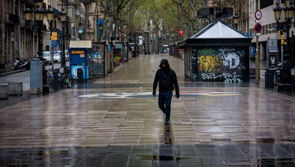 Ситуация в Барселоне в связи с коронавирусом - Sputnik Латвия