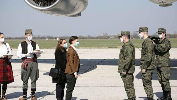 Гуманитарная помощь из РФ прибыла в Сербию  - Sputnik Latvija