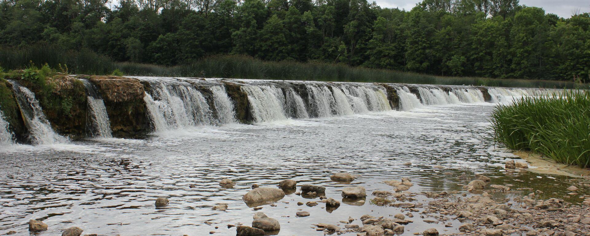 Водопад Вентас-Румба в Кулдиге, Латвия - Sputnik Латвия, 1920, 29.08.2021