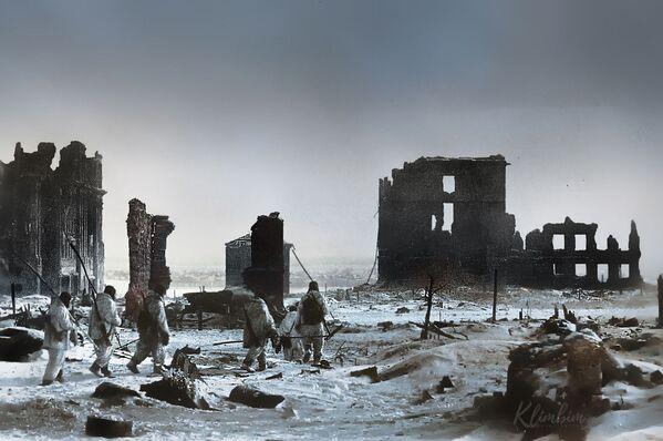 Центр города Сталинграда после освобождения от немецко-фашистских захватчиков. - Sputnik Латвия