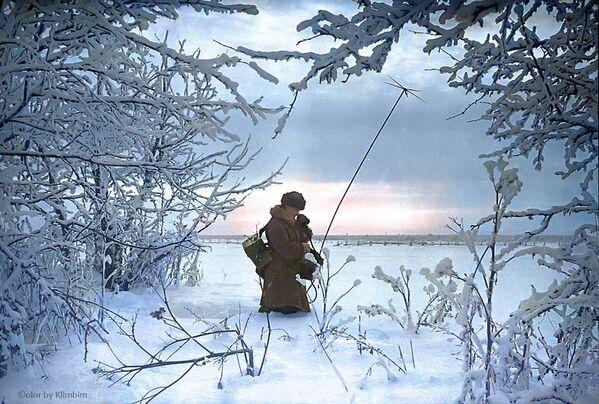 Налаживание связи на передовой, 1941 год - Sputnik Латвия