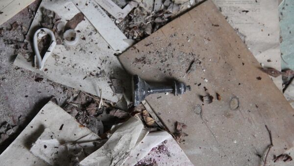 Шахматные фигурки и брошенные тетради: что осталось в деревне-призраке - Sputnik Latvija