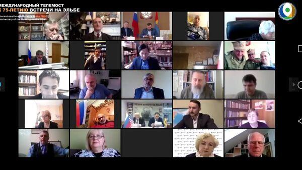 Телемост Встреча на Эльбе-75 - Sputnik Латвия