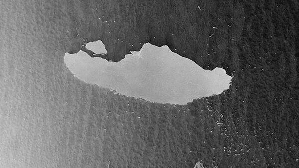 Aisberga А-68 fotouzņēmums no pavadoņa Sentinel-1, 2020. gada 23. aprīlis  - Sputnik Latvija