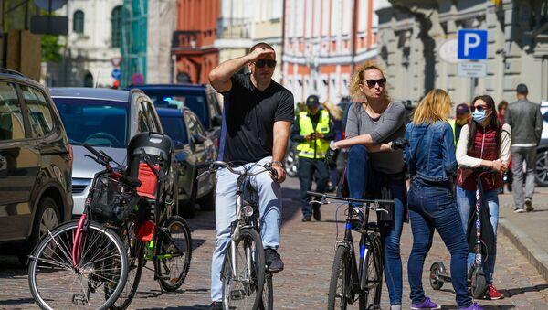 Велосипедисты в Риге - Sputnik Латвия