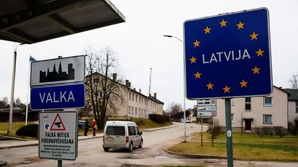 Граница Эстонии с Латвией - Sputnik Latvija