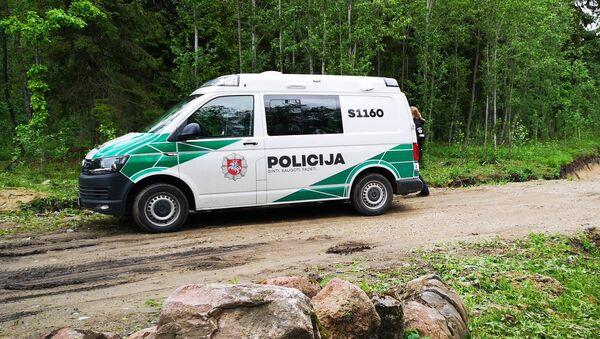 Автомобиль литовской полиции, архивное фото - Sputnik Latvija