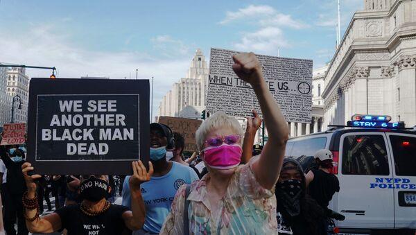 Протесты в Нью-Йорке - Sputnik Latvija