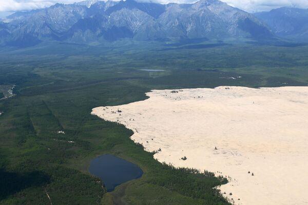 Урочище Чарские пески - песчаная пустыня размером примерно 10 км на 5 км в Забайкальском крае - Sputnik Латвия