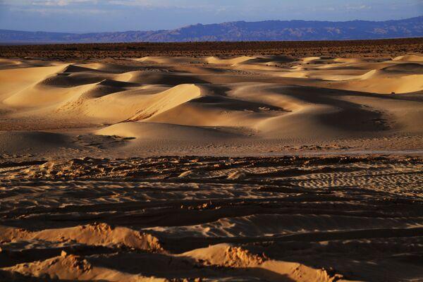 Пустыня в окрестностях озера Шотт-Эль-Джерид в Тунисе - Sputnik Латвия
