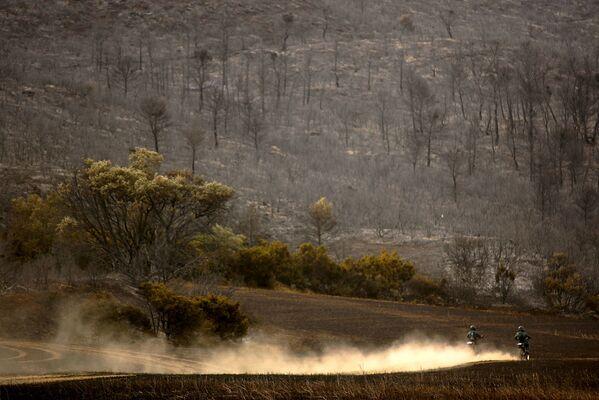 Лесные пожары в Сарагосе, Испания, являющиеся причиной опустынивания - Sputnik Латвия