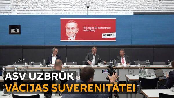 Vācu politiķi nosaukuši ASV sankcijas par tiešu uzbrukumu Vācijas suverenitātei - Sputnik Latvija