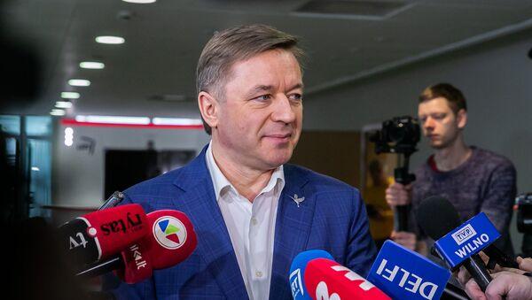 Лидер Союза крестьян и зеленых Литвы Рамунас Карбаускис, архивное фото - Sputnik Латвия