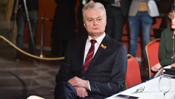 Президент Литвы Гитанас Науседа  - Sputnik Латвия