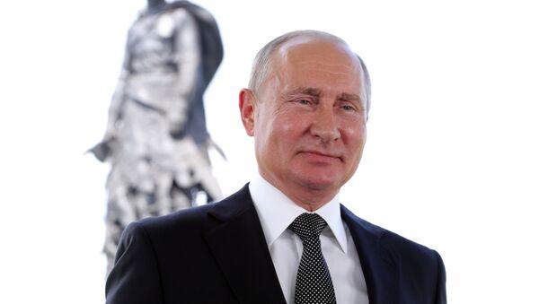 Президент РФ В. Путин выступил с обращением к гражданам России - Sputnik Латвия
