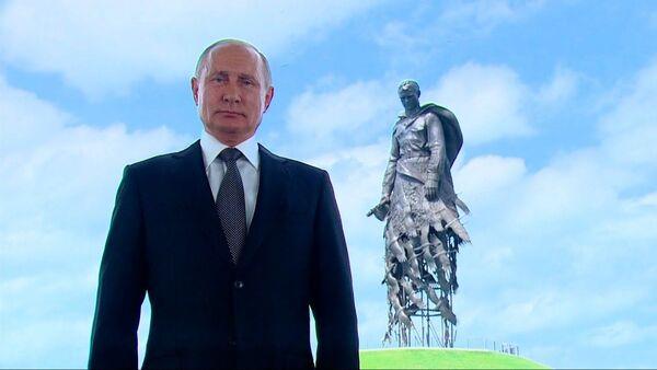 Обращение Владимира Путина к россиянам в преддверии основного дня голосования по Конституции - Sputnik Латвия