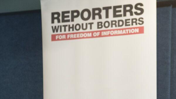 Логотип Репортеры без границ - Sputnik Latvija
