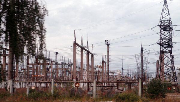 Transformatoru apakšstacijas un elektropārvades līnija AES teritorijā - Sputnik Latvija