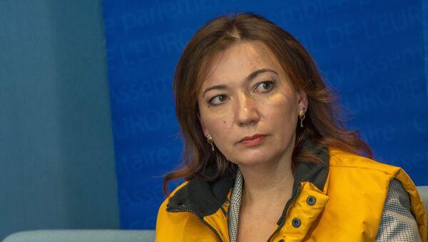 Глава Sputnik Эстония Елена Черышева во время пресс-конференции на полях сессии ПАСЕ, архивное фото - Sputnik Латвия