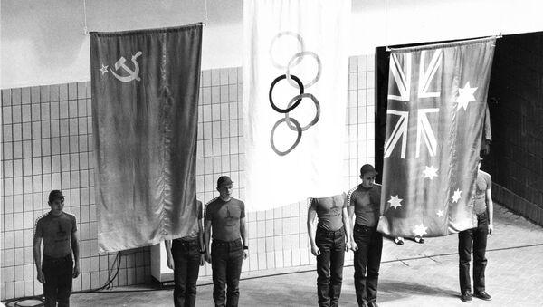 Арсен Мискаров, Дункан Гудхью и Питер Эванс на Олимпийских играх 1980 в Москве - Sputnik Latvija