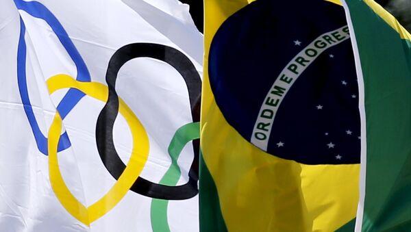 Olimpisko spēļu un Brazīlijas karogs. Foto no arhīva - Sputnik Latvija