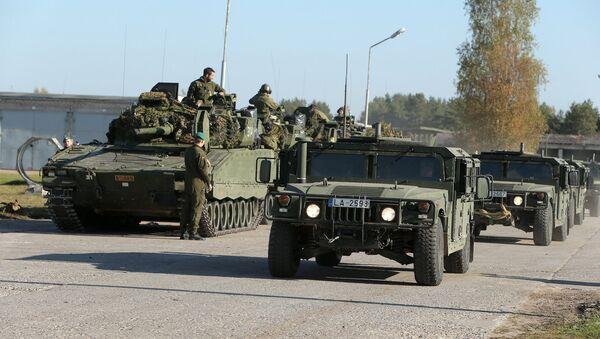 Norvēģu karavīri mācībās Ādažu poligonā - Sputnik Latvija