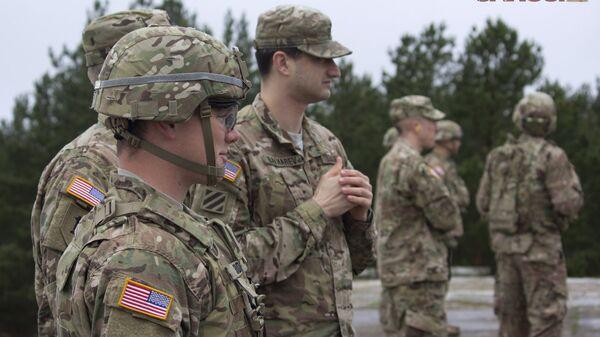 Военные НАТО на полигоне Адажи - Sputnik Latvija