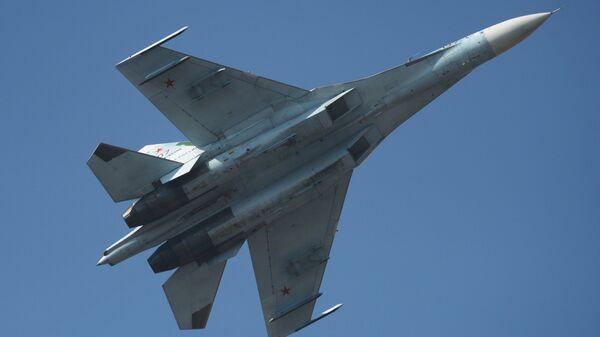 Krievijas iznīcinātājs Su-27. Foto no arhīva - Sputnik Latvija
