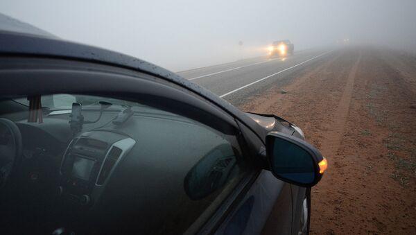 Утренний туман по дороге - Sputnik Латвия