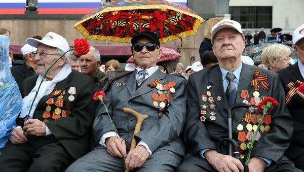 Militārā parāde par godu uzvaras Lielajā Tēvijas karā 71. gadadienai - Sputnik Latvija