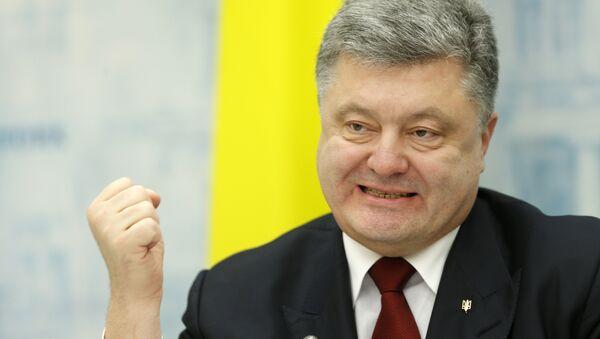 Президент Украины Петр Порошенко - Sputnik Latvija