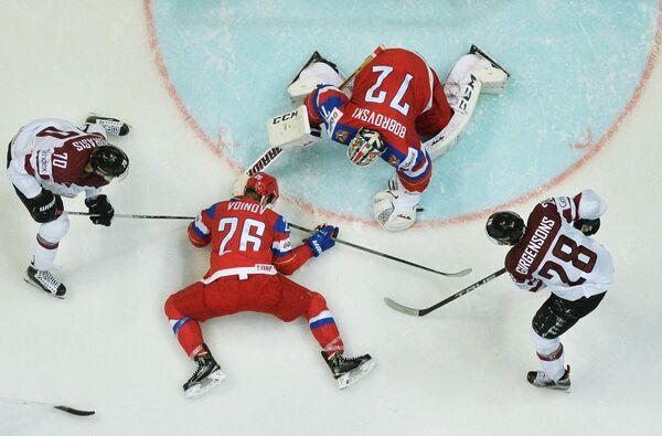 Хоккей между сборными командами Латвии и России - Sputnik Латвия