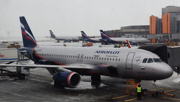 Самолет авиакомпании Аэрофлот - Sputnik Latvija