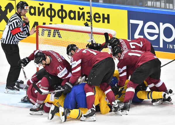Хоккей. Чемпионат мира. Матч Швеция - Латвия - Sputnik Латвия