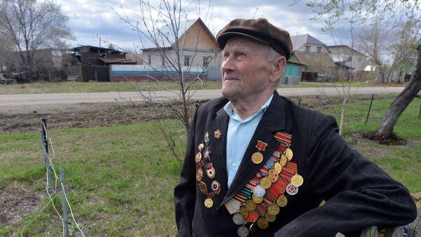 Ветеран ВОВ Григорий Скрипов из Челябинской области - Sputnik Латвия