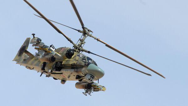 Боевое применение российского вертолета Ка-52 в Сирии - Sputnik Latvija