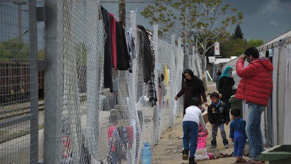 Bēgļu nometne Tabanovce Maķedonijā. Foto no arhīva - Sputnik Latvija