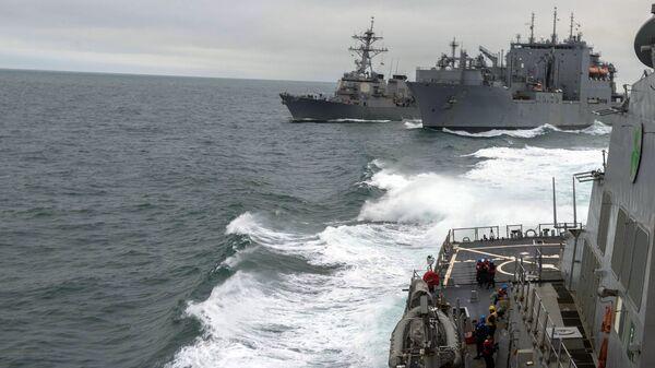 Военные корабли Североатлантического альянса. Архивное фото - Sputnik Латвия