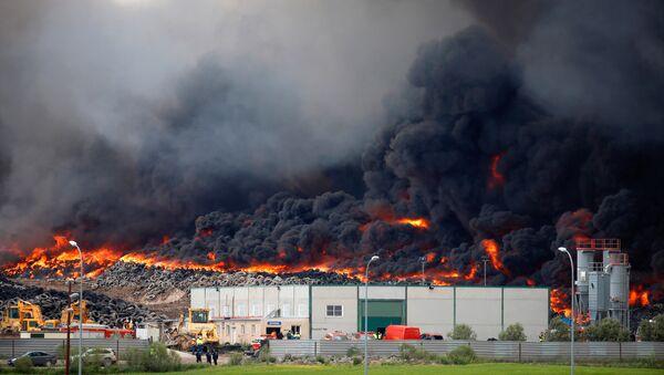 Пожар в Сесенье - Sputnik Латвия