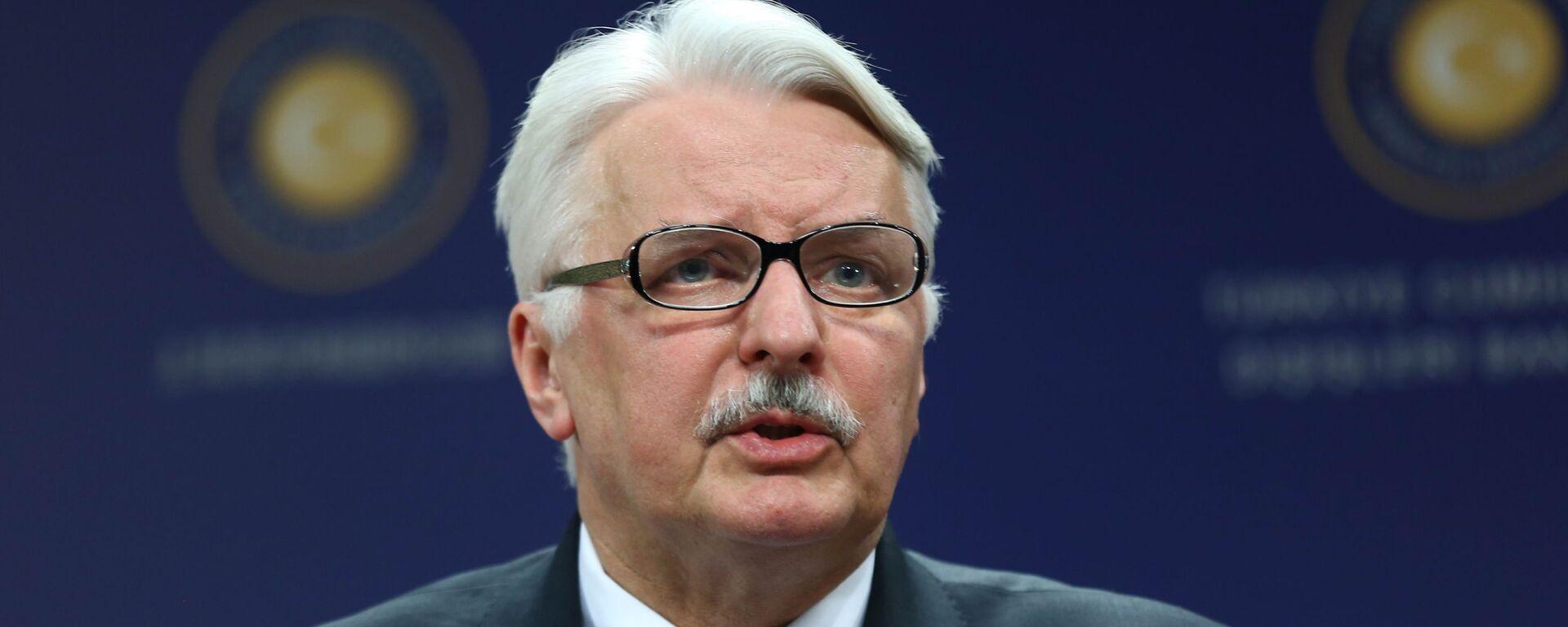 Bijušais Polijas ārlietu ministrs Vitolds Vaščikovskis - Sputnik Latvija, 1920, 08.09.2021
